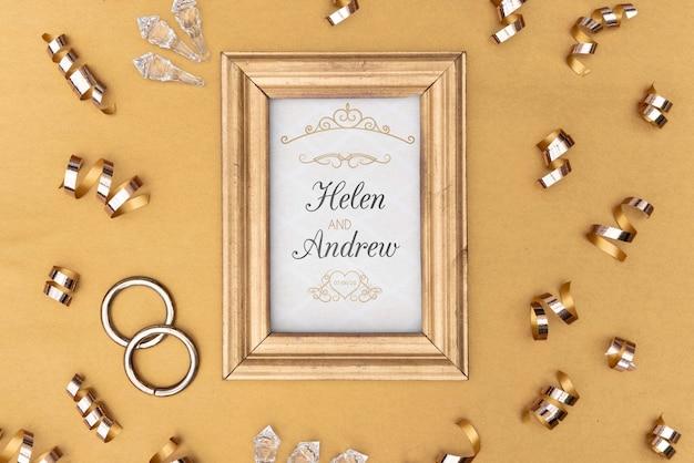 Coleção de armação e anel de noivado