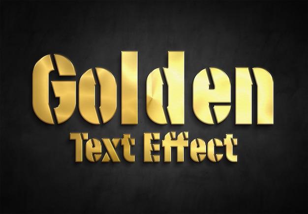 Coleção de estilo de efeito de texto dourado