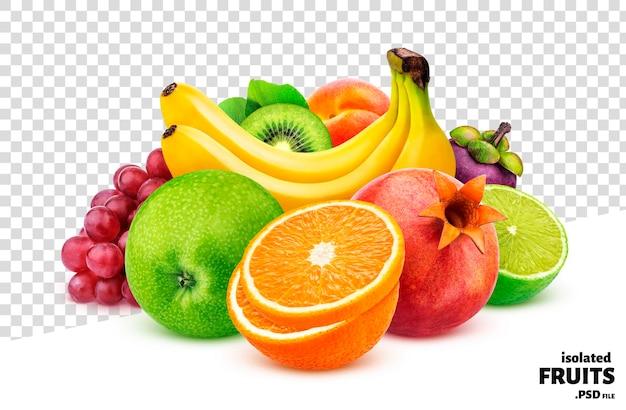 Coleção de frutas e bagas isolada
