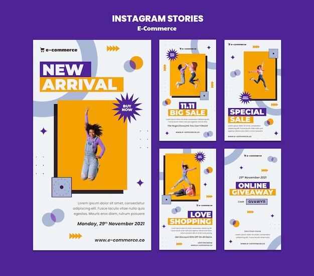 Coleção de histórias de instagram de comércio eletrônico
