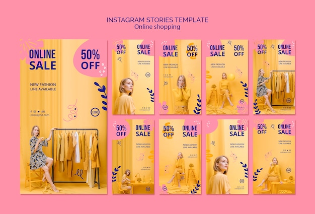 Coleção de histórias do instagram de venda online