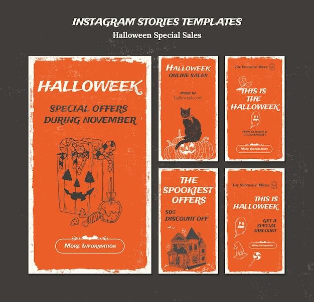Coleção de histórias do instagram para a semana