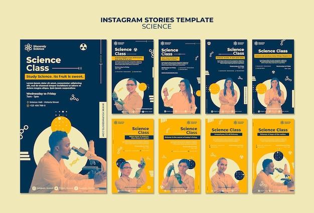 Coleção de histórias do instagram para aula de ciências