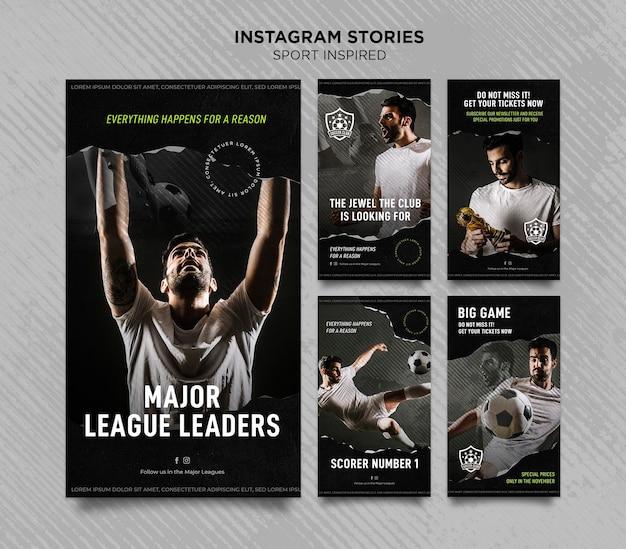 Coleção de histórias do instagram para clube de futebol