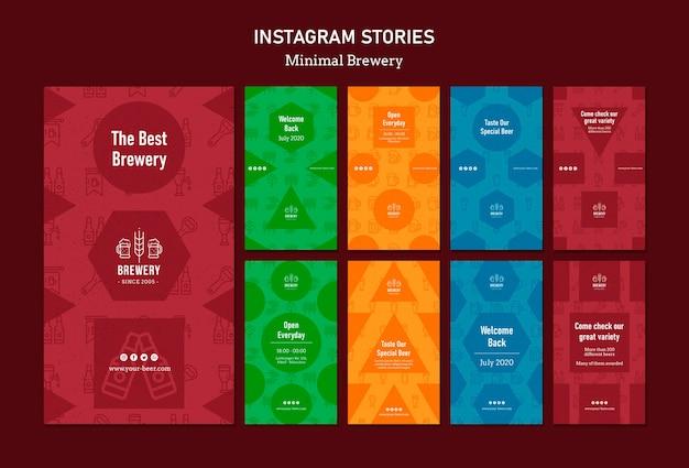 Coleção de histórias do instagram para degustação de cerveja