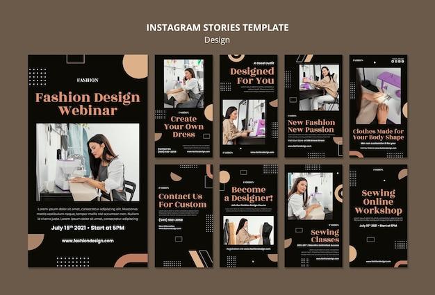 Coleção de histórias do instagram para estilistas