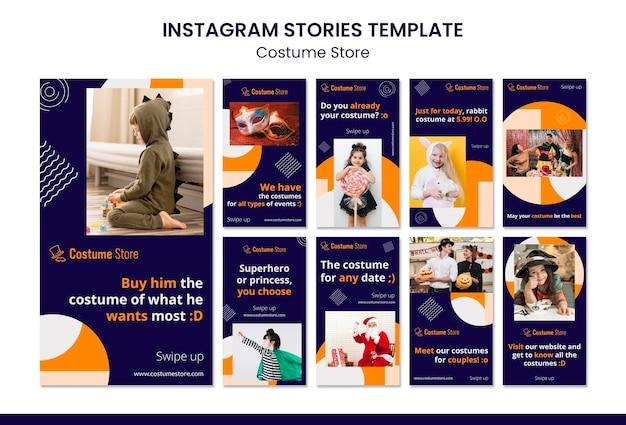 Coleção de histórias do instagram para fantasias de halloween