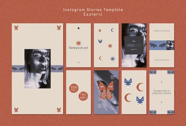 Coleção de histórias do instagram para misticismo e esoterismo
