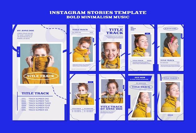 Coleção de histórias do instagram para músico