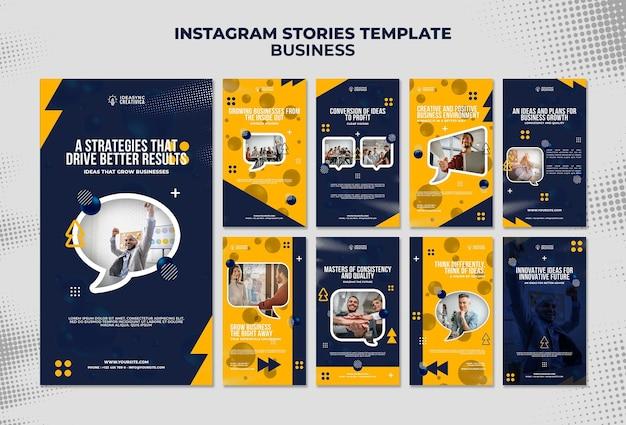 Coleção de histórias do instagram para negócios