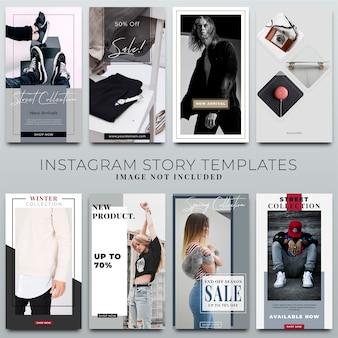 Coleção de histórias do instagram para o modelo de mídia social
