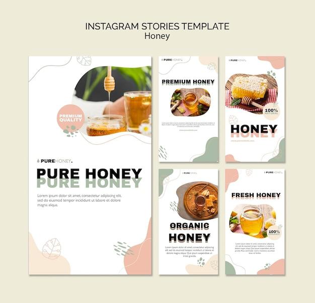 Coleção de histórias do instagram para puro mel