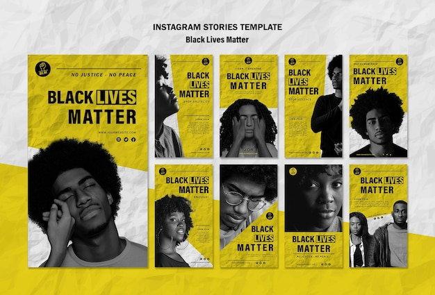 Coleção de histórias do instagram para vidas negras importa