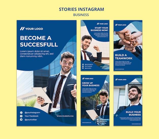 Coleção de histórias do instagram