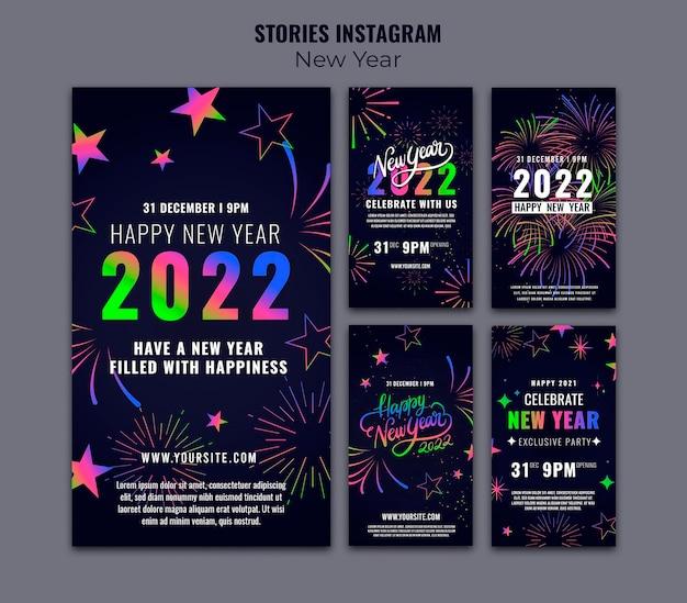 Coleção de histórias ig comemorativa de ano novo