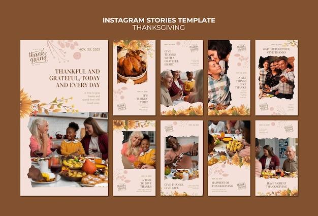 Coleção de histórias ig feliz do dia de ação de graças