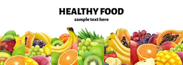 Coleção de ingredientes alimentares, frutos e bagas