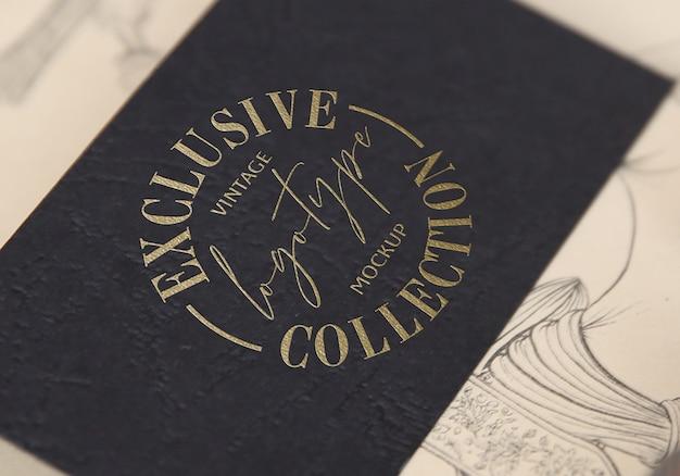 Coleção de maquete de logotipo vintage exclusivo