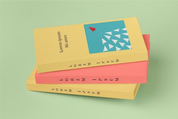 Coleção de maquetes de livros diferentes