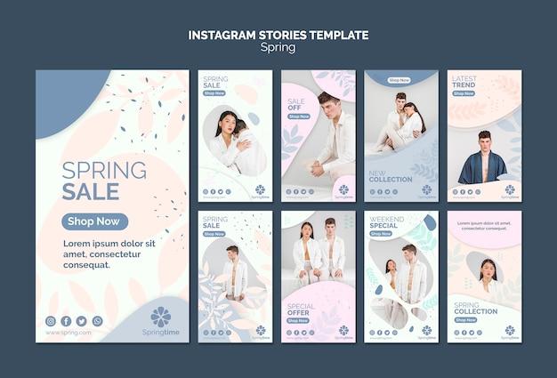 Coleção de modelo de histórias do instagram