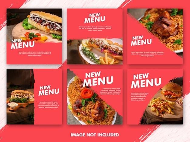 Coleção de modelo de postagem de comida