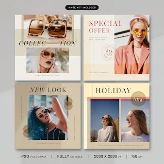 Coleção de modelo de postagem de moda