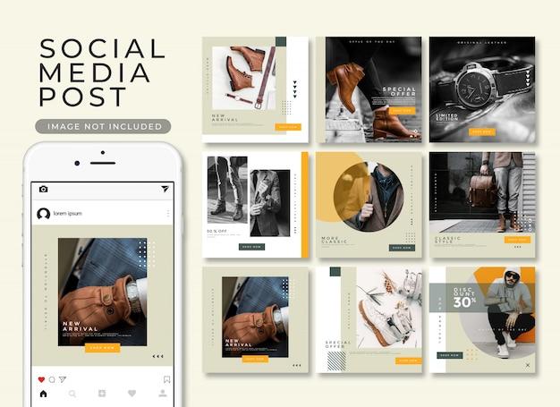 Coleção de modelo de postagem do instagram