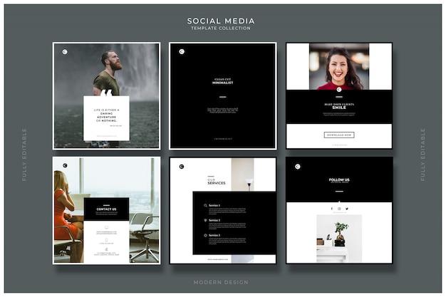 Coleção de modelos de mídia social