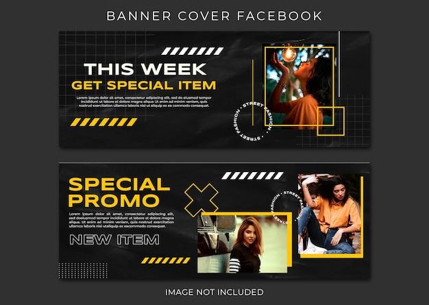 Coleção de modelos de venda de moda para capa do facebook