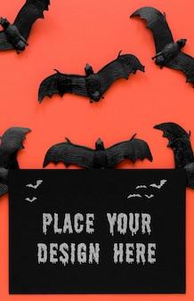 Coleção de morcegos conceito de halloween