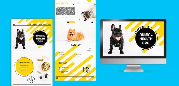 Coleção de páginas para comida de cachorro