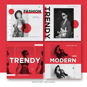 Coleção de postagens de moda do instagram