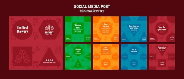 Coleção de postagens do instagram para degustação de cerveja