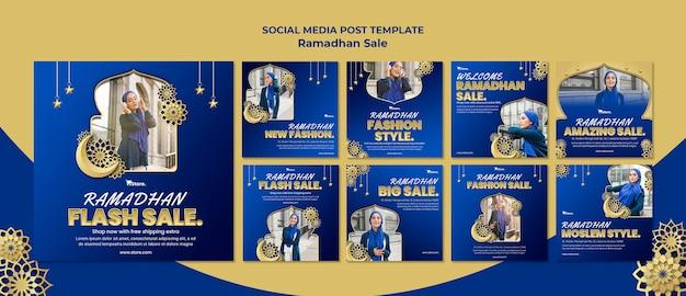 Coleção de postagens do instagram para liquidação no ramadã
