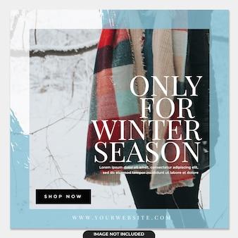 Coleção de postagens do instagram para modelo de moda de inverno