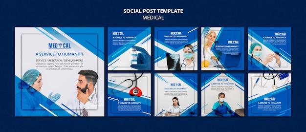 Coleção de postagens do instagram para vacinação contra coronavírus