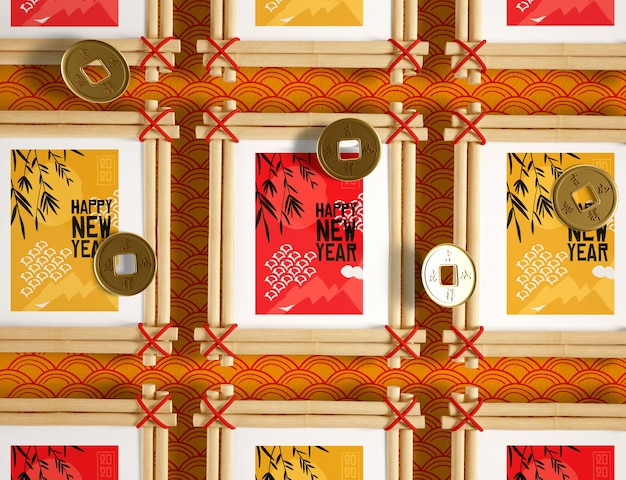 Coleção de quadros de ano novo chinês