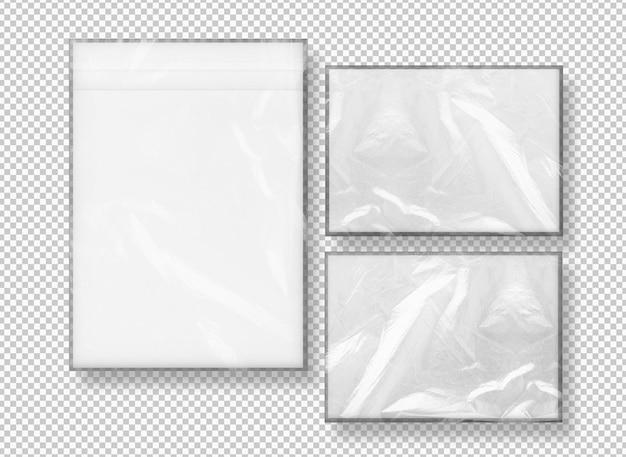 Coleção isolada de envelopes embrulhados