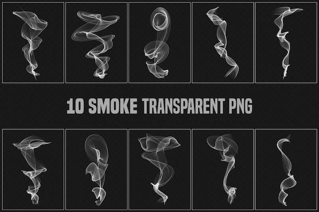 Coleção transparente de fumaça