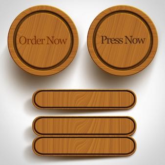 Coleta de botões de madeira