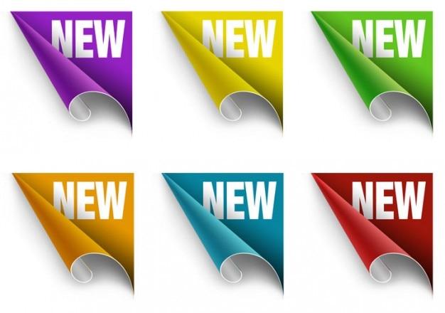 Coloridos novos adesivos com ângulo de rolagem