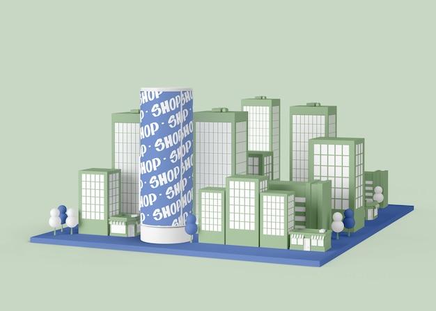 Comercial exterior com edifícios