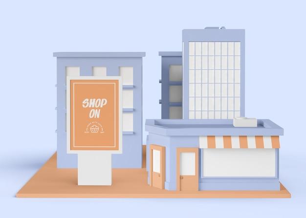 Comercial exterior com loja