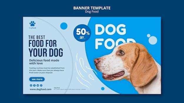 Comida de cachorro modelo banner