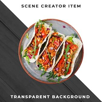 Comida mexicana psd transparente