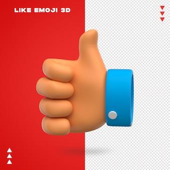 Como emoji 3d design