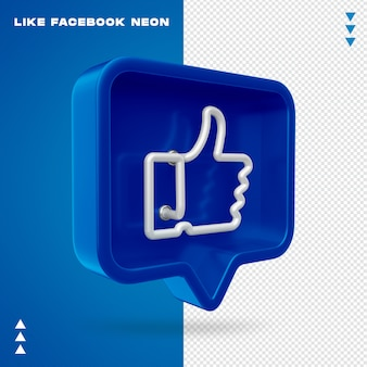 Como facebook neon isolated