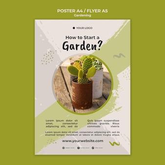 Como iniciar um modelo de cartaz de jardim