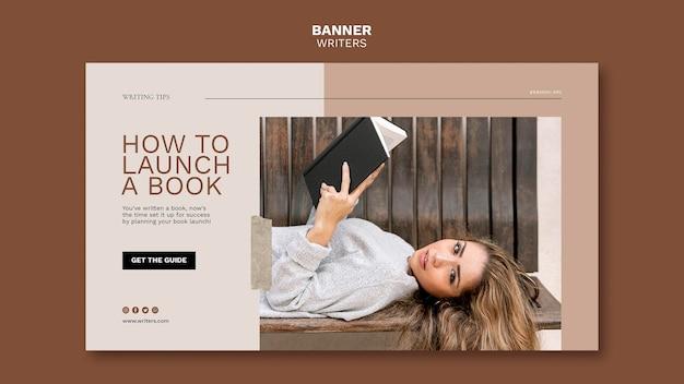 Como lançar um modelo de banner de livro