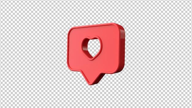 Como símbolo em fundo transparente. ilustração 3d.